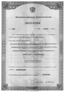 Лицензия-1сторона
